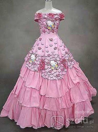 Suknie ślubna Hello Kitty W Na Specjalne Okazje Szafapl