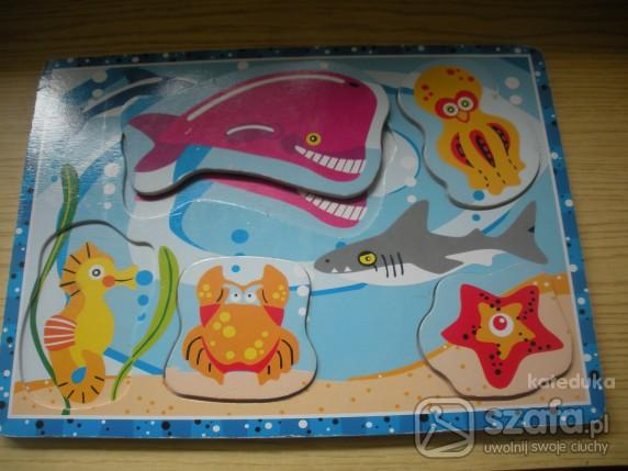 Zabawki drewniane puzzle rózna tematyka