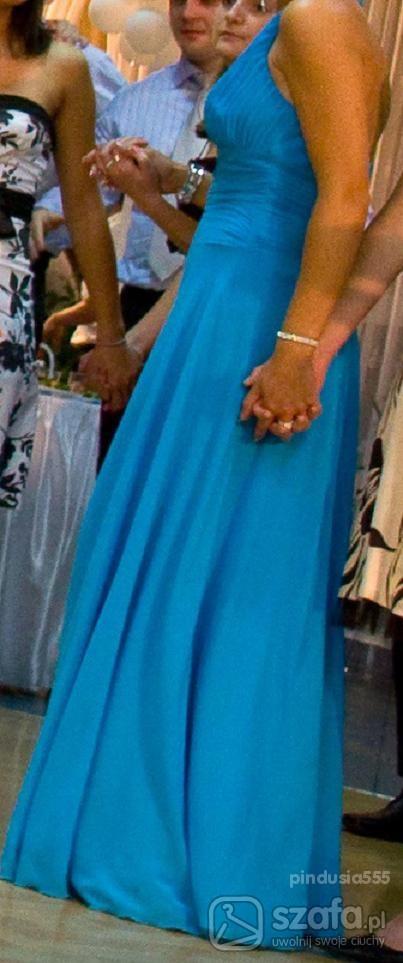 Wieczorowe niebieska suknia