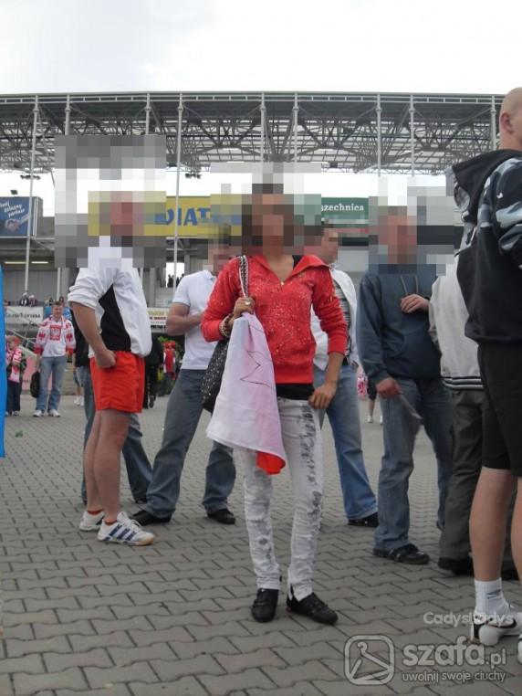 Sportowe na meczu w Kielcach