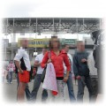na meczu w Kielcach