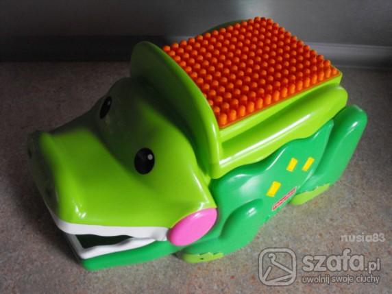 Zabawki KROKODYL ZJADACZ KLOCKÓW FISHER PRICE cena z przes