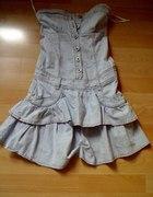 Jeansowa Sukienka Fishbone...
