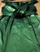 BEATA CUPRIAK koktajlowa zielona sukienka...