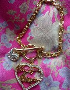 Juicy Couture bransoletka charms serce swarovski