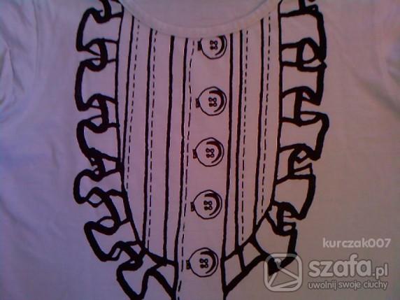 koszulka z nadrukiem żabotu