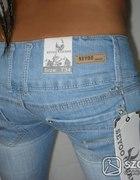 Super jasne jeansy rurki XS S