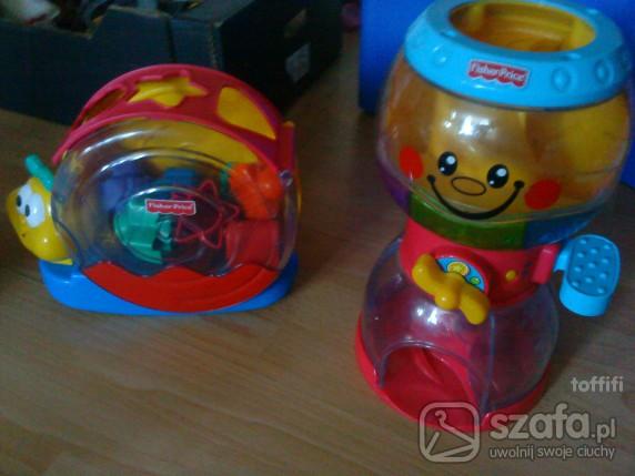 Zabawki 2 x fisher price w tym grająca zjeżdżalnia