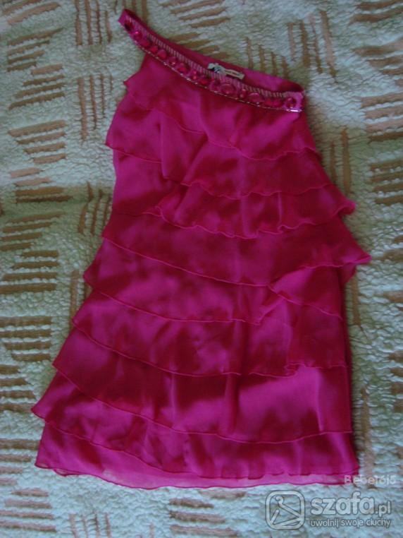 Suknie i sukienki piekna malinowa z kamieniami Tally Weijl