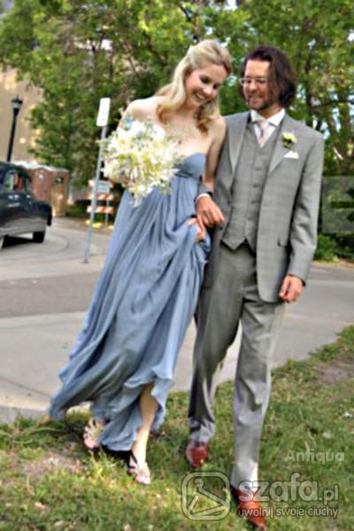 Na specjalne okazje Kolorowa suknia ślubna
