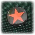 przypinka z czerwoną gwiazdą