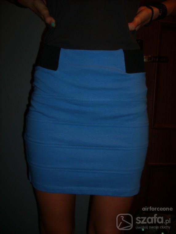 Spódnice spodniczka bandazowa niebieska