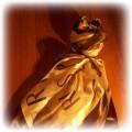 Paris Chusta z Paryża champs elysees brąz złoto