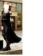 czarna bluzka z długim rękawem goth punk metal