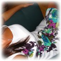 sukienka biała motyw kwiatowy