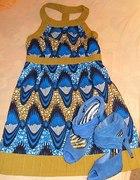 letnia niebieska sukienka