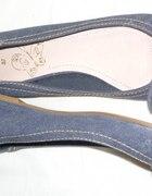 Peep toe jeansowe z kokardką rzom 37