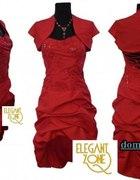Sukieneczka z trenem śliczna rozm 38 czerwona