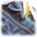 zip dress ola szwed bombka jeansowa atmosphere M
