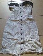 sukienka marynarska na guziki serduszka