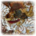 CHANEL piekna ze słonecznikami jedwabna apaszka