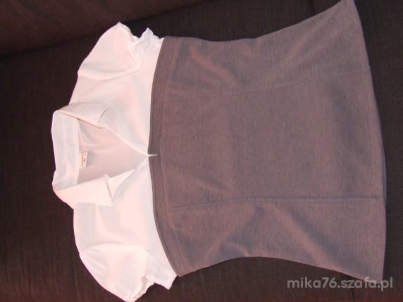bluzeczka szaro biała