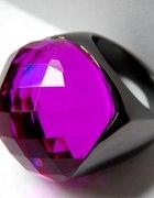 Duży oksydowany pierścień fiolet purpura nowy