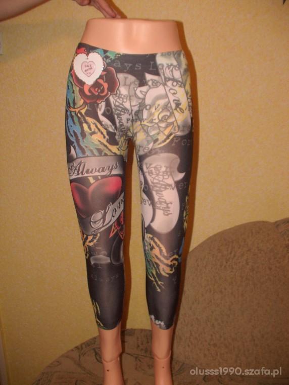 Kolorowe legginsy rozmiar UNIWERSALNY