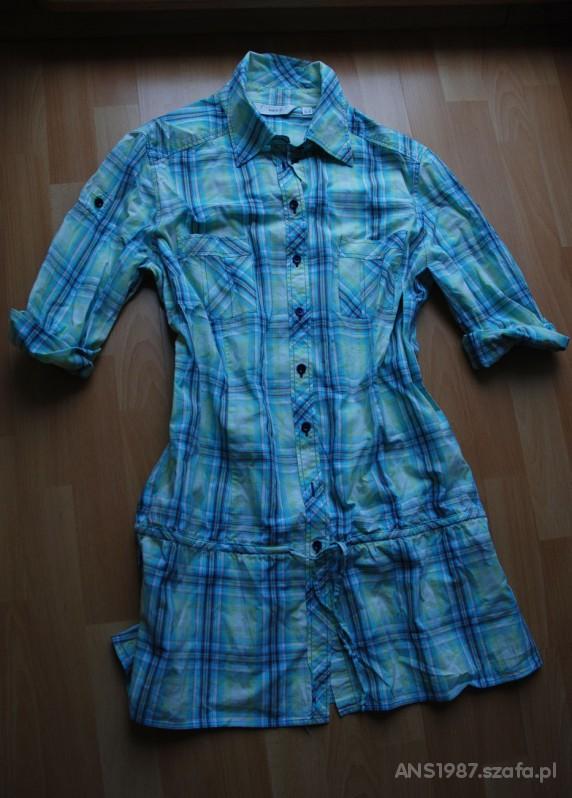 koszula tunika w kratke