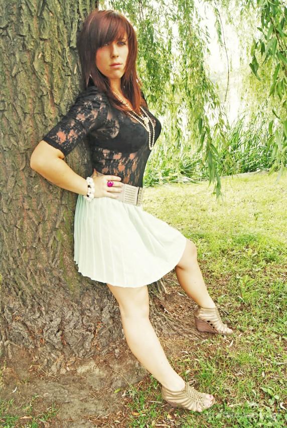 Mój styl Miętowa spódnica