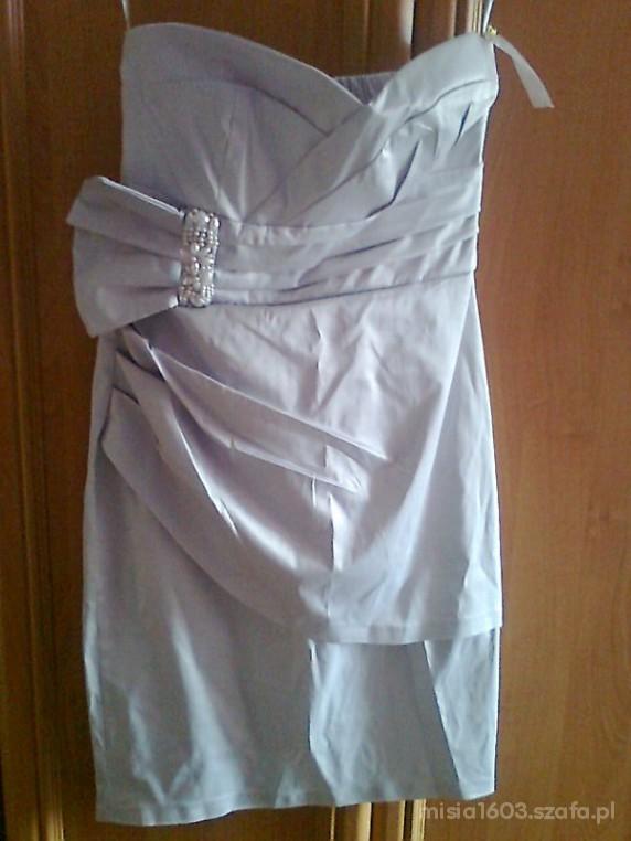 Sukienka weselna szara