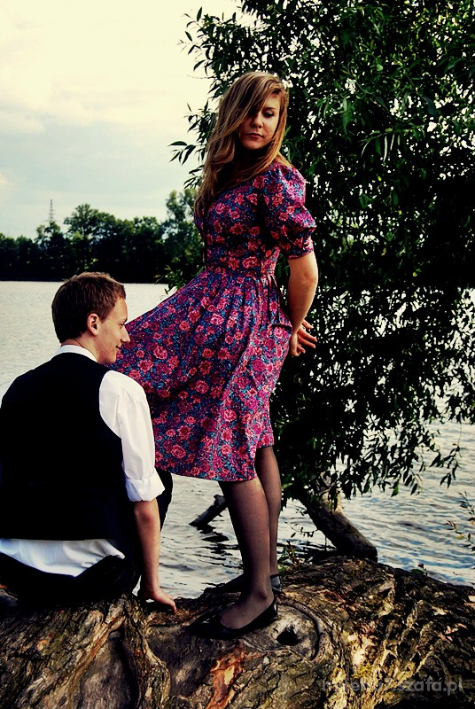 Mój styl Ach te kolory sukieneczka w kwiatuszki