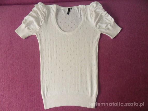 TOPSHOP ażurkowa bluzka z bufkami S