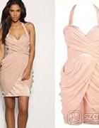 LIPSY grecka sukienka w kolorze pudrowym