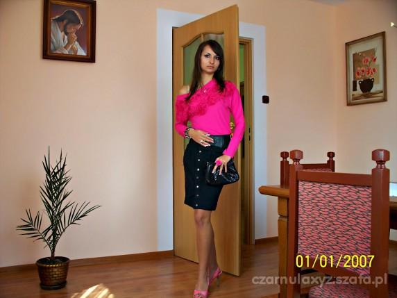 Mój styl moja nowa różowa tunika z różyczkami