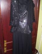 srebrno czarna sukienka