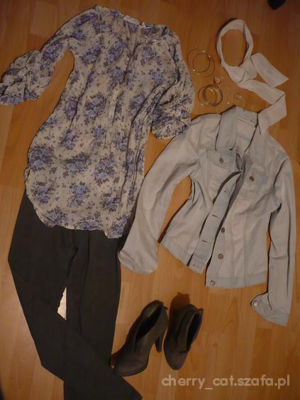 Romantyczne Floral i jeans
