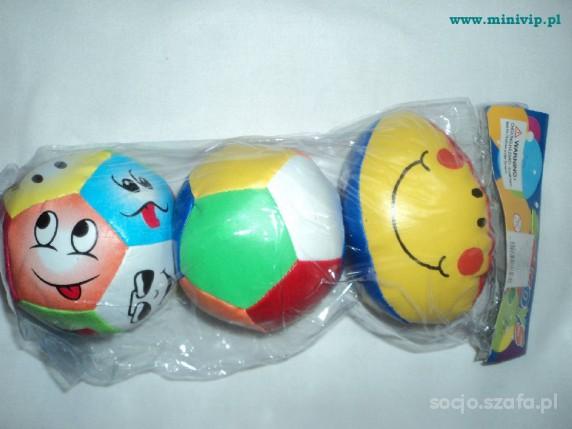 Zabawki Zestaw 3 Nowych zabawnych piłeczek