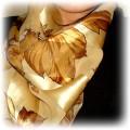 duża złoto czarna chusta