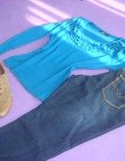 Falbanki i jeans