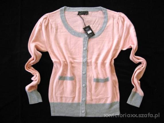 Swetry Kardigan Pudrowy roz lososiowy Biagini M