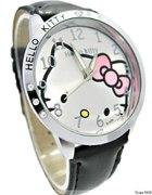 Czarny zegarek Hello Kitty