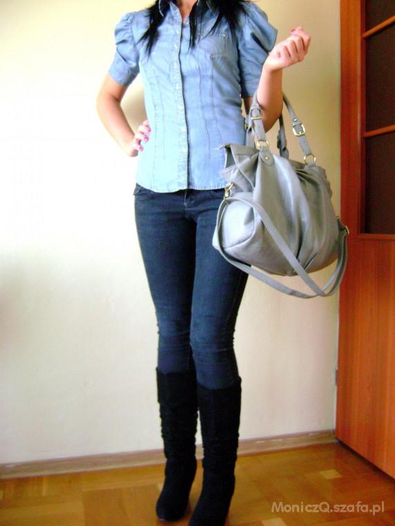 Do szkoły jeansowa koszula HM DORADŹCIE