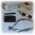 Zestaw eleganckich dodatków okulary bryloczek NOWE