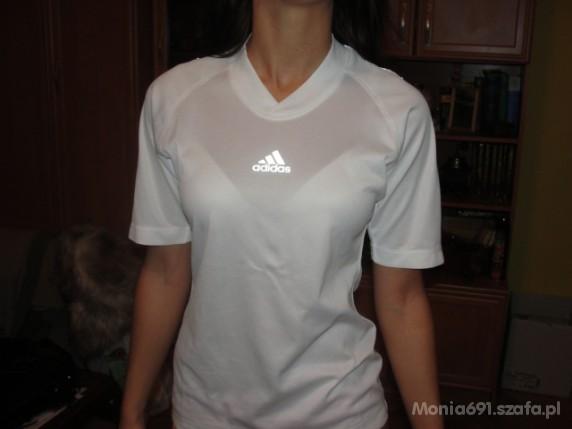 kup najlepiej nowa wysoka jakość niska cena adidas biała koszulka damska r S