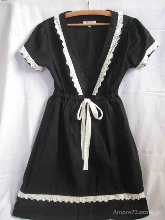 Sukienka Vintage CZARNO BIAŁA HARMONIA...