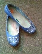 Niebieskie balerinki