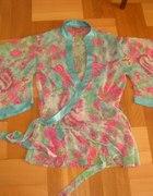 szyfonowa tunika floral rękawy
