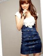 spodnica jeansowa japan style