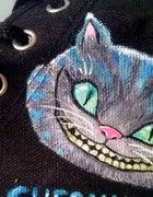 Trampki Cheshire Cat ręcznie malowane